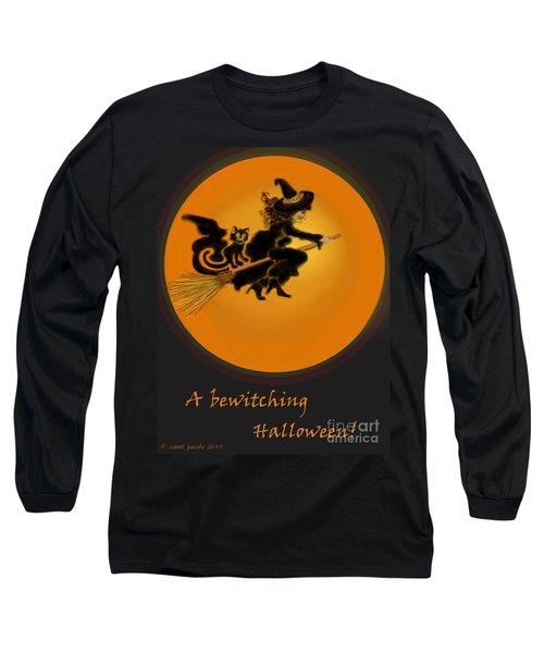 Long Sleeve T-Shirt featuring the painting Betwitched by Carol Jacobs
