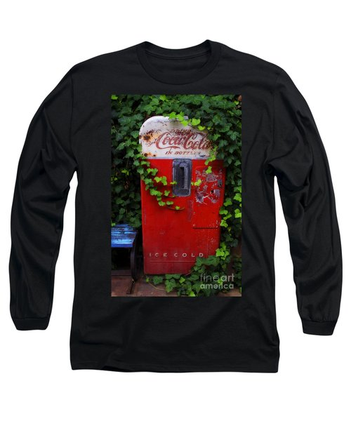 Austin Texas - Coca Cola Vending Machine - Luther Fine Art Long Sleeve T-Shirt