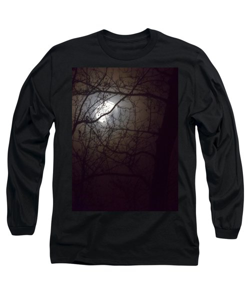 Long Sleeve T-Shirt featuring the photograph Beware The Rougarou Moon by John Glass