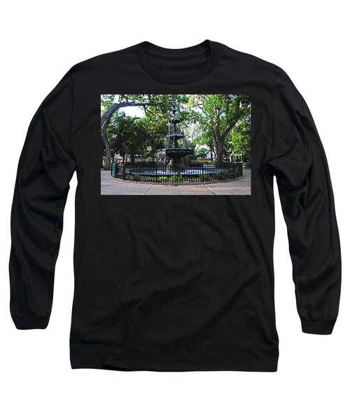 Bienville Fountain Mobile Alabama Long Sleeve T-Shirt