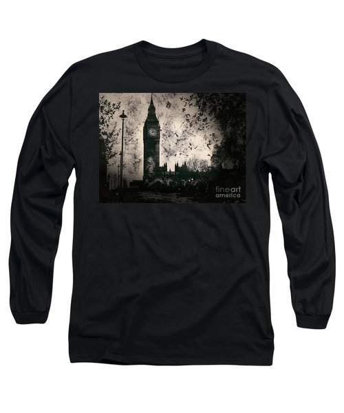Big Ben Black And White Long Sleeve T-Shirt