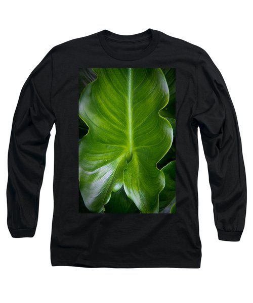 Nature Long Sleeve T-Shirt featuring the photograph Big Green by Aaron Berg