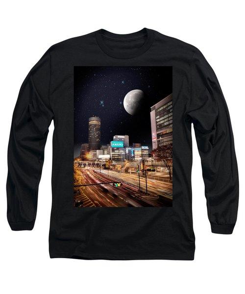 Big Moon Yokohama Long Sleeve T-Shirt by John Swartz