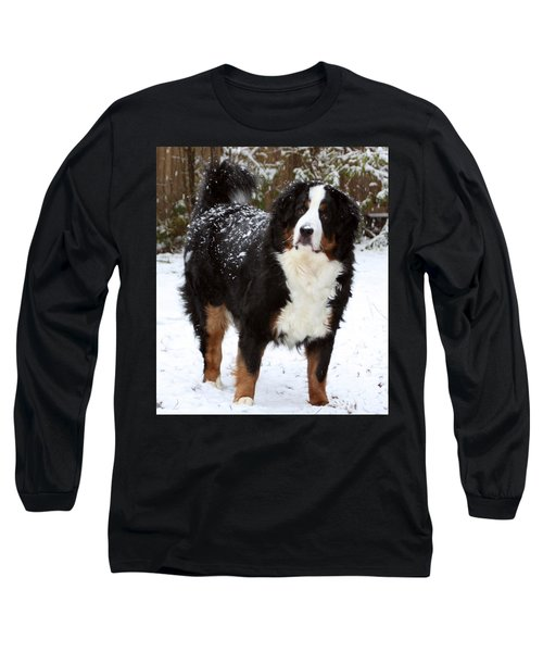 Long Sleeve T-Shirt featuring the photograph Snow Happy by Patti Whitten