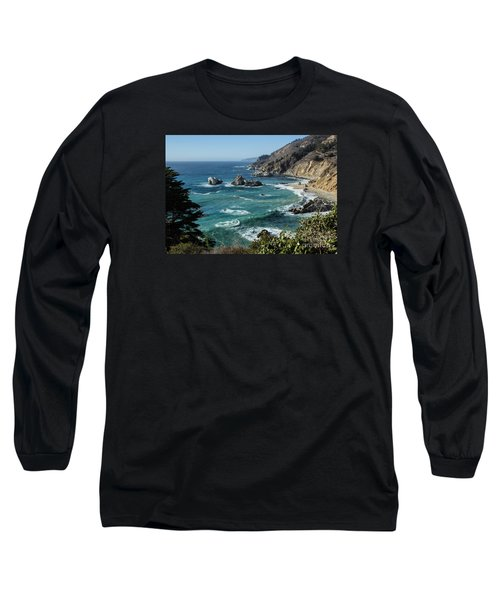 Big Sur Coast From Julia Pfeiffer Burns Long Sleeve T-Shirt by Suzanne Luft