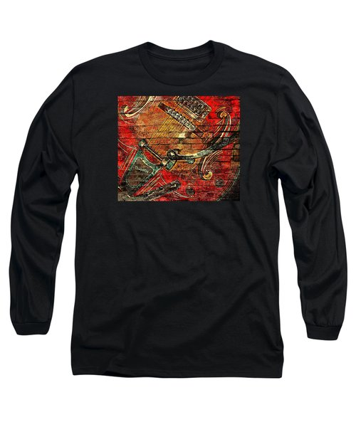 Bigsby Faux Mural Long Sleeve T-Shirt by Chris Berry