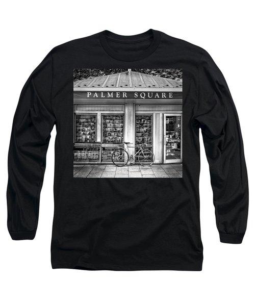Bike At Palmer Square Book Store In Princeton Long Sleeve T-Shirt by Ben and Raisa Gertsberg