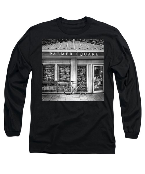 Bike At Palmer Square Book Store In Princeton Long Sleeve T-Shirt