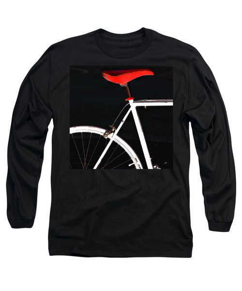 Bike In Black White And Red No 1 Long Sleeve T-Shirt by Ben and Raisa Gertsberg