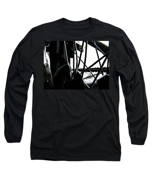 Bike Wheel Long Sleeve T-Shirt by Joel Loftus