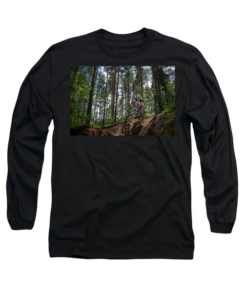 Biker On Trail Long Sleeve T-Shirt