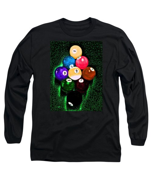 Billiards Art - Your Break Long Sleeve T-Shirt by Lesa Fine