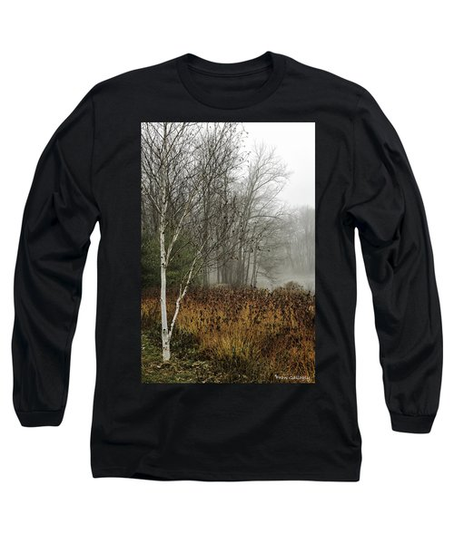 Birch In Winter Long Sleeve T-Shirt