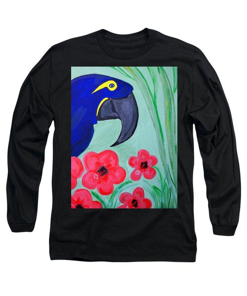 Long Sleeve T-Shirt featuring the painting Bird In Paradise   by Nora Shepley