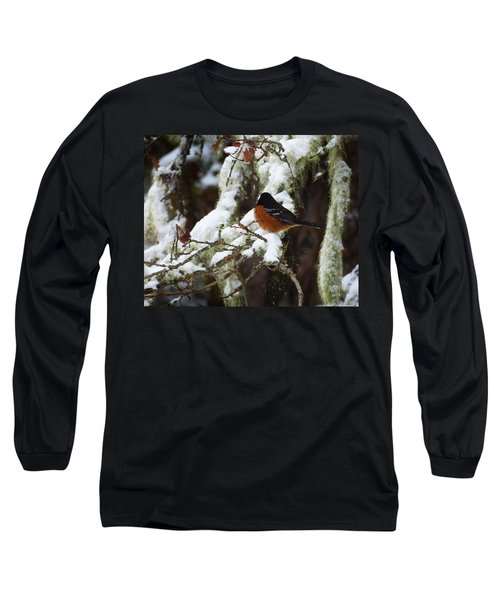 Bird In Snow Long Sleeve T-Shirt