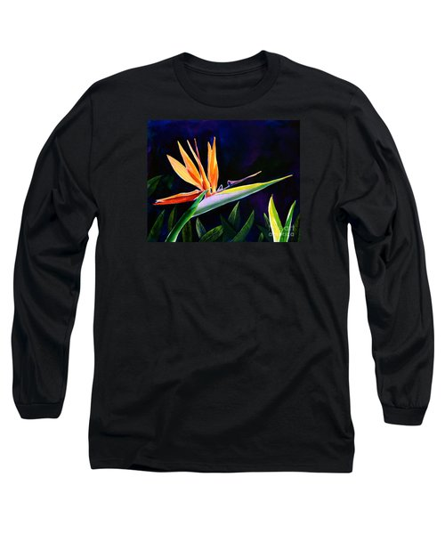 Long Sleeve T-Shirt featuring the painting Bird Of Paradise by AnnaJo Vahle