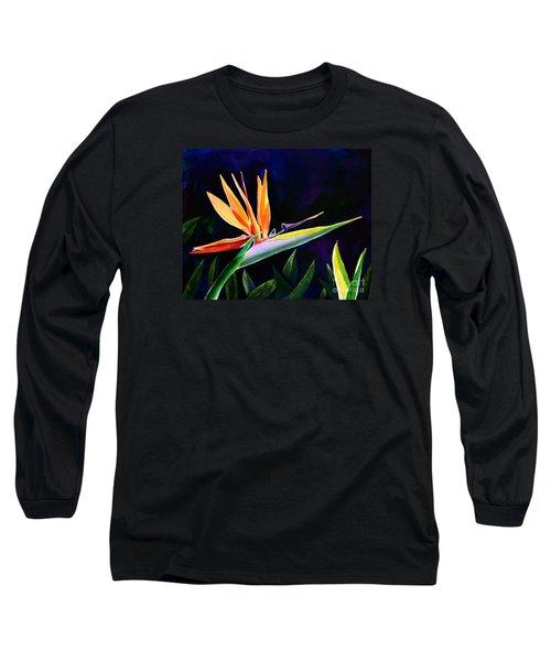 Bird Of Paradise Long Sleeve T-Shirt by AnnaJo Vahle