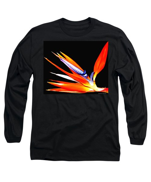 Long Sleeve T-Shirt featuring the photograph Bird Of Paradise Flower With Oil Painting Effect by Rose Santuci-Sofranko