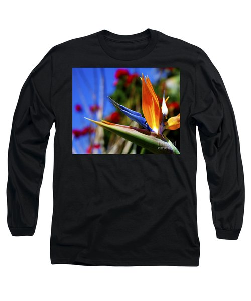 Long Sleeve T-Shirt featuring the photograph Bird Of Paradise Open For All To See by Jerry Cowart