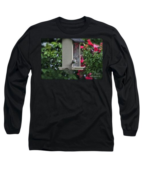 Long Sleeve T-Shirt featuring the photograph Bird Time To Fly by Thomas Woolworth