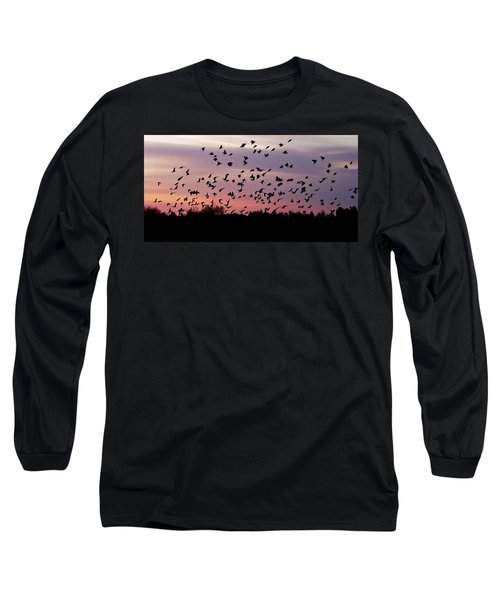 Long Sleeve T-Shirt featuring the photograph Birds At Sunrise by Aimee L Maher Photography and Art Visit ALMGallerydotcom