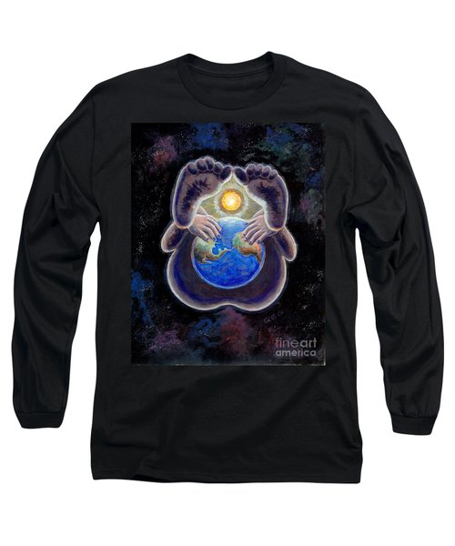 Birth Of The Earth Long Sleeve T-Shirt by George I Perez