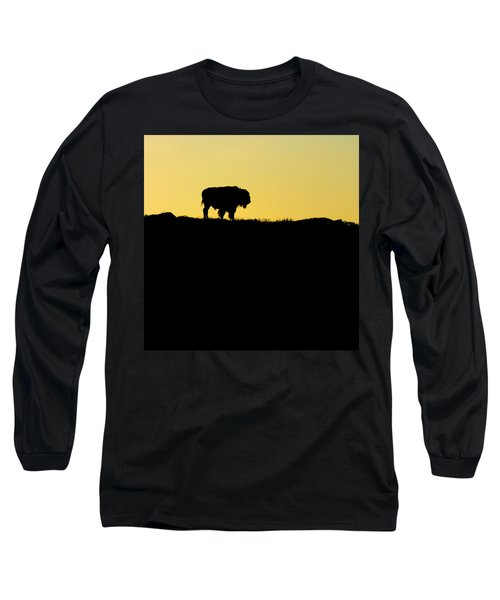 Long Sleeve T-Shirt featuring the photograph Bison Sunrise by Sonya Lang