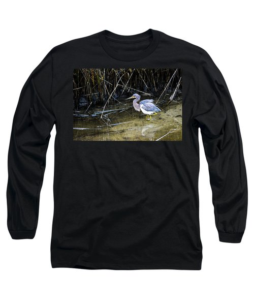 Bittern At Dusk  Long Sleeve T-Shirt