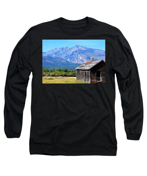 Long Sleeve T-Shirt featuring the photograph Bitterroot Valley Cabin by Joseph J Stevens