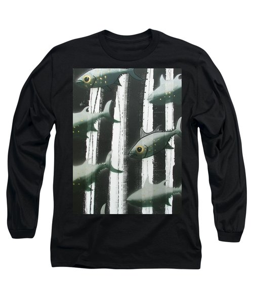 Black And White Fish Long Sleeve T-Shirt
