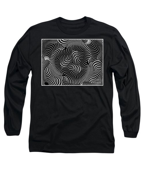 Black And White Illusion Long Sleeve T-Shirt