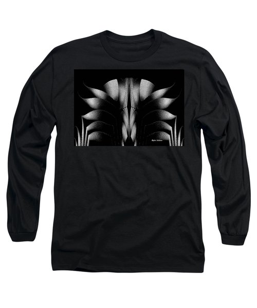 Long Sleeve T-Shirt featuring the mixed media Black And White by Rafael Salazar
