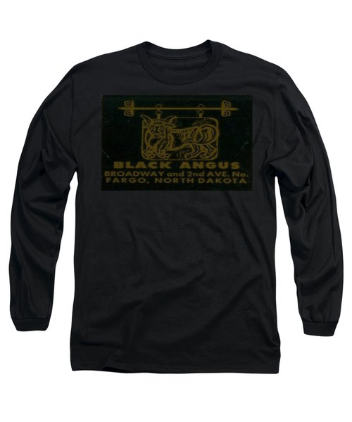 Long Sleeve T-Shirt featuring the digital art Black Angus by Cathy Anderson