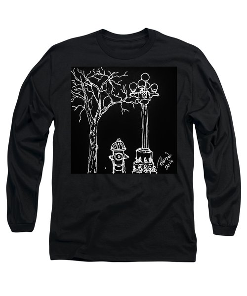 Long Sleeve T-Shirt featuring the drawing Black Book 08 by Rand Swift