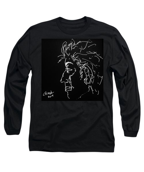 Long Sleeve T-Shirt featuring the drawing Black Book 10 by Rand Swift