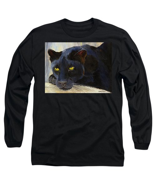 Black Cat Long Sleeve T-Shirt by Jamie Frier