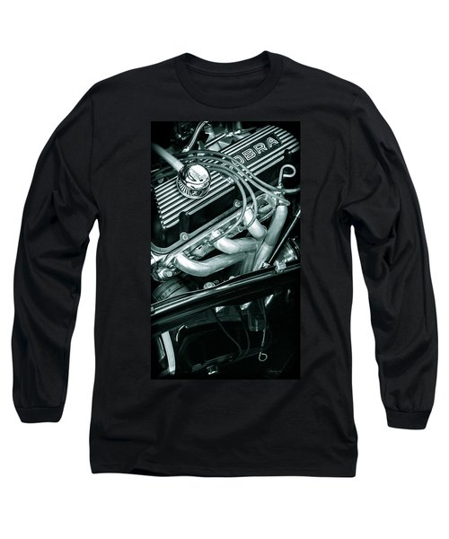 Black Cobra - Ford Cobra Engines Long Sleeve T-Shirt by Steven Milner