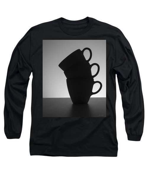 Long Sleeve T-Shirt featuring the photograph Black Coffee Cups by Steven Milner