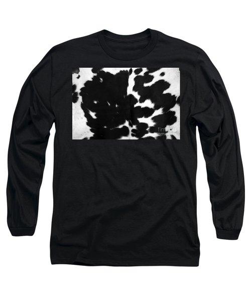 Long Sleeve T-Shirt featuring the photograph Black Cowhide by Gunter Nezhoda