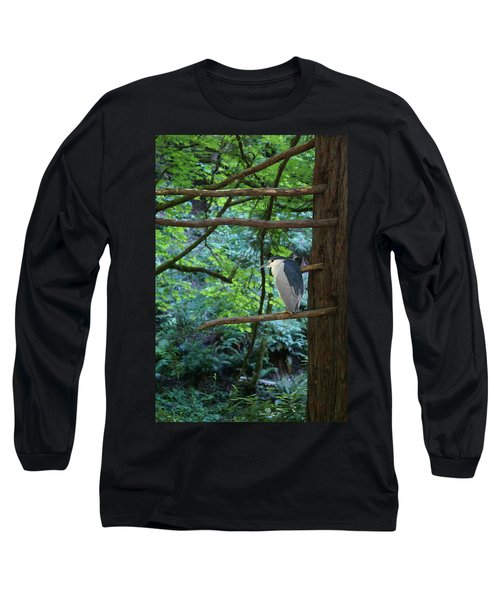 Black-crowned Night Heron Long Sleeve T-Shirt