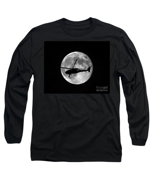 Black Hawk Moon Long Sleeve T-Shirt
