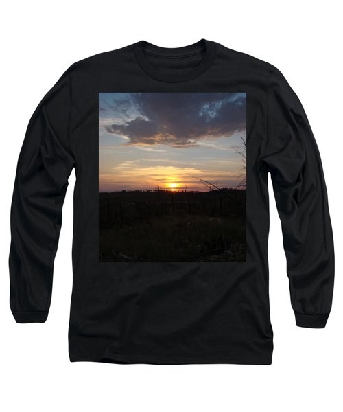 Long Sleeve T-Shirt featuring the photograph Black Hills Sunset IIi by Cathy Anderson