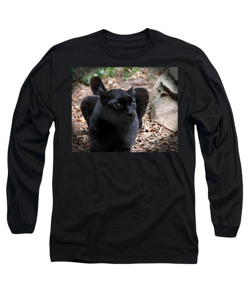 Black Panther Long Sleeve T-Shirt by Judy Vincent
