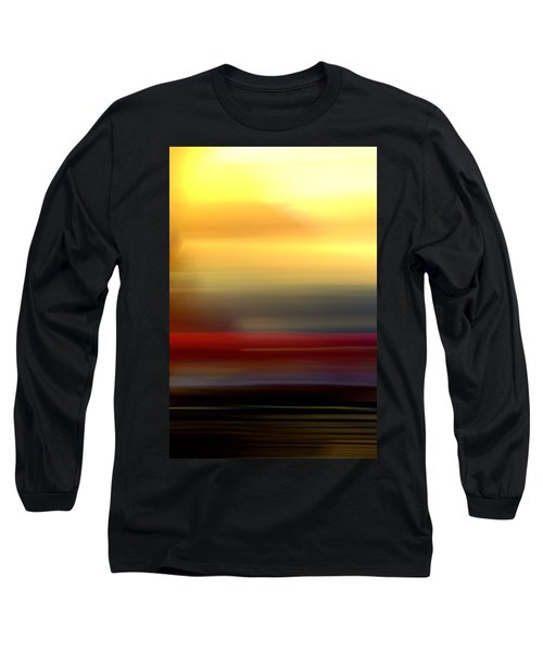 Black Red Yellow Long Sleeve T-Shirt by Terence Morrissey
