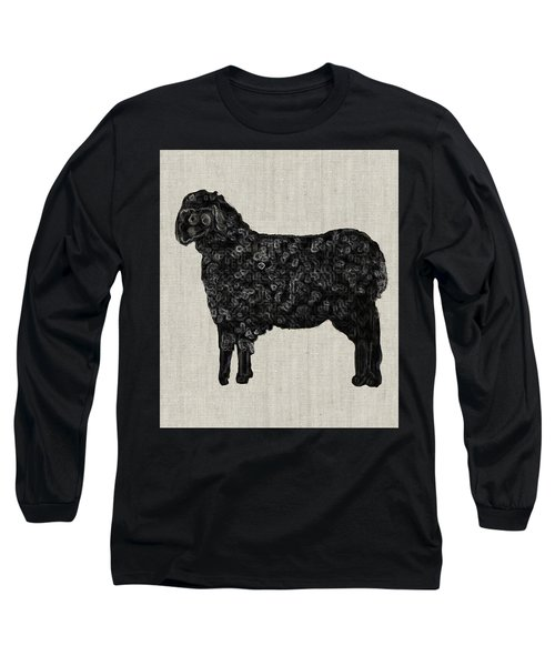 Black Sheep Long Sleeve T-Shirt by Enzie Shahmiri