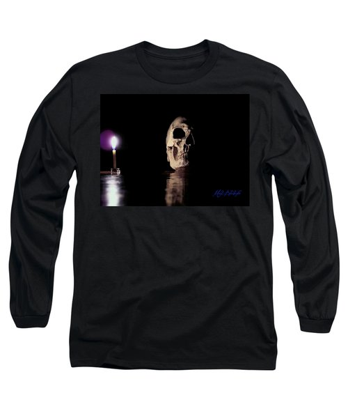 Blackbeard's Skull Long Sleeve T-Shirt by Mark Blauhoefer