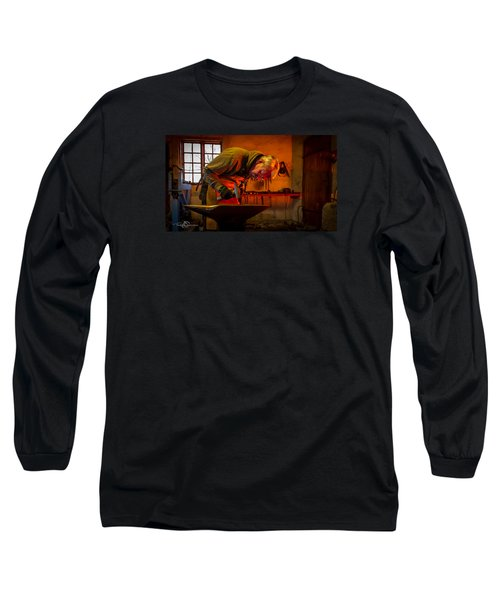 Blacksmith In Torresta Long Sleeve T-Shirt by Torbjorn Swenelius