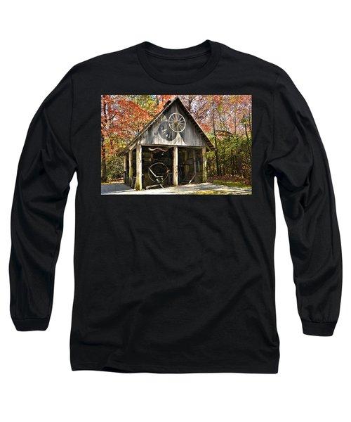 Blacksmith Shop Long Sleeve T-Shirt by Susan Leggett