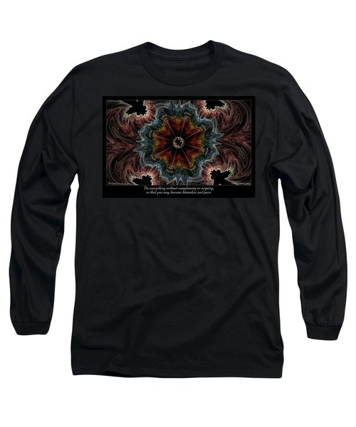 Blameless And Pure Long Sleeve T-Shirt