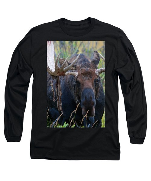 Long Sleeve T-Shirt featuring the photograph Blood In His Eye by Jim Garrison